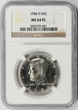 1984-D Kennedy Half Dollar 50C MS 64 PL Proof Like NGC