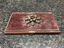 Argento Sc Business Card Holder Case- Swarovski Crystals