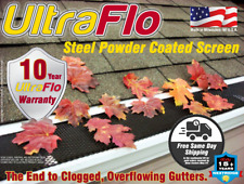 100 feet Ultra Flo Gutter Guard Cover Screen Leaf Protection 5, 6, & Half Round