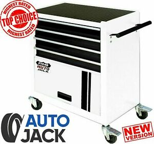 Cabinet Tool Storage Chest with 4 Drawers Portable Rollcab Garage Rolling Steel
