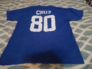 Nike NFL New York Giants Victor Cruz Men's T-Shirt Blue Short Sleeve Size MEDIUM