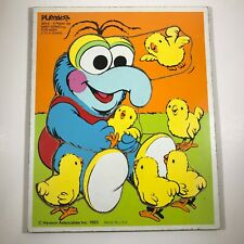Vintage 1983 PLAYSKOOL Wooden Tray Puzzle Muppets Baby Gonzo