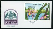 Dominica Scott #1675 FIRST DAY COVER Orchids Flowers FLORA S/S $$
