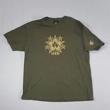 Black Label Skateboarding Graphic T Shirt XL Army green crewneck VTG 90s skating