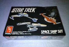 AMT / ERTL Star Trek Spaceship Set - Federation, Romulian and Klingon 1989 RARE