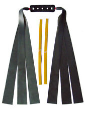 3 Fach Theraband schwarz Flachbandgummi/ Länge 30cm/ Schleuder,Zwille,slingshot