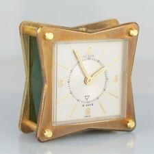 Vintage Jaeger LeCoultre Memovox Alarm Green Brass Starfish Swiss Desk Clock