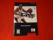 NBA Live '97 1997 Super Nintendo SNES Instruction Manual Booklet ONLY