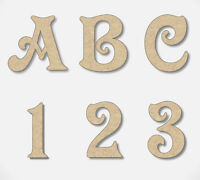 MDF Letters Numbers Wooden Decoration Words 3mm Thick MDF Alphabet Victorian