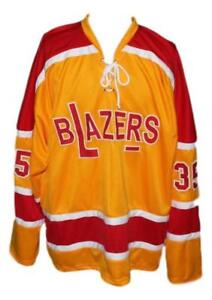 Any Name Number Size Philadelphia Blazers Retro Custom Hockey Jersey Yellow