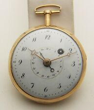 18th Century French Verge Fusee With Calendar Hand, 18k Gold, Running 49mm