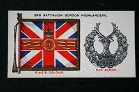 Gordon Highlanders   Battalion Colour  Original 1930 Vintage Card  VGC