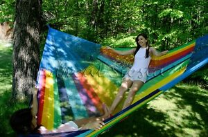 NEW Handwoven XXL COTTON Mayan Mexican JUMBO Hammock Bed for INDOORS & OUTDOORS