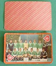 RARE FOOTBALL CARTE PHOTO AS SAINT-ETIENNE 1959-1960 ASSE VERTS CHAUDRON