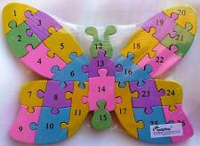 BN WOOD ALPHABET NUMBER BUTTERFLY BLOCK PUZZLE-GR8 GIFT