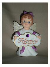 BIRTHSTONE ANGEL FIGURINE - FEBRUARY -  AMETHYST - JEANE'S THINGS