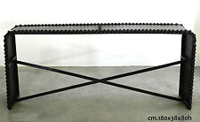 Consolle borchiata ferro industrial loft Tavolo vintage in metallo