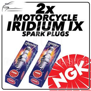 2x NGK Iridium Ix Bougies Pour Moto Morini 350cc 350 Sport/Strada 74- >84 4055