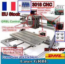 【FR/EU】 3 Axis Mini DIY 3018 USB CNC Router PCB Wood Milling Laser Machine+GRBL