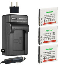1x Charger Replacement for Casio Exilim EX-S100WE BattPit trade; New 2x Digital Camera Battery 800 mAh