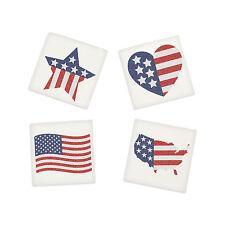 36 Patriótico con purpurina con Bandera Tatuajes Bolsa Sorpresa 4º DE JULIO EEUU