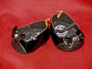 Build A Bear Workshop - Black Patent  High Heel Glitter w/ Rhinestone & Bows