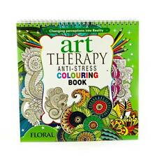 Adult Colouring Therapy Anti-Stress Adult Colouring Book Relax 100 pages Floral