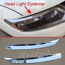 Head Light Eyebrow For Nissan Rogue XTrail 2014-2016 Cover Chrome Lamp Strips