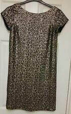 WOMENS GOLD SEQUIN SHIFT DRESS BY NEXT SIZE 6 ***NEW&TAGGED*** RRP £65
