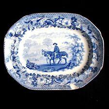 "1818 Bathwell & Goodfellow Small Rural Scenery ""Horseman Going Fishing"" Platter"