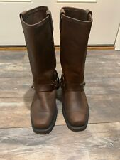 Womens Leather HARLEY-DAVIDSON Harness Engineer Eagle Boots - US 6 M