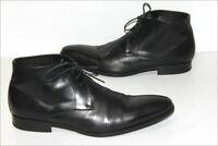 SCOTT & SONS  Bottines Boots Tout Cuir Lisse Noir Doublées Cuir T 45 TBE
