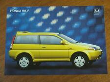 2000 Honda HR-V original Australian single page brochure