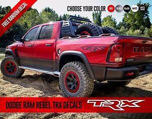 DODGE RAM DAKOTA REBEL TRX Side Graphics Vinyl Decals Stickers Pick Up Truck Set