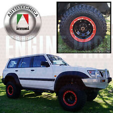 "BEADLOCK BEAD LOCK SIMULATOR KIT SUITS 16"" RIMS 4WD & PASSENGER SET OF 4 RED"