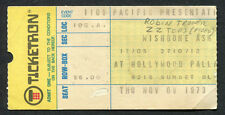 1973 Zz Top Wishbone Ash Robin Trower Concert Ticket Stub Hollywood Palladium Ca