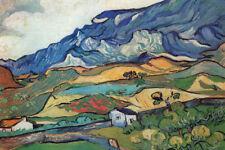 Vincent Van Gogh Les Alpilles Mountain Landscape near Saint Remy Poster 12x18
