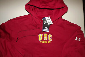 NEW WITH TAGS $64.99 UNDER ARMOUR COLD GEAR XL USC HOODIE Sweatshirt MENS T227