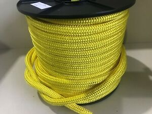 ARBORIST LOWERING ROPE 16mm x 50m DOUBLE BRAID POLYESTER AUST MADE  6.5t B/F