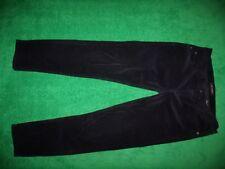 Women's Joe Fresh Black Corduroy Straight Leg Pants Cotton Blend Size 31 (12)