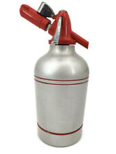 Vintage Sypholux Metal Soda Siphon Seltzer Bottle