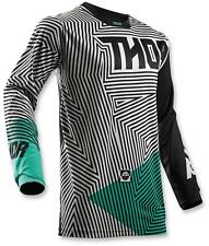 Thor Youth MX ATV Motocross Jersey S8Y Black/Teal X-Large