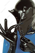 3841 Latex Rubber Gummi Double Layers Mask Hood customized catsuit costume 0.4mm