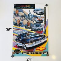 🔥VTG 🚘 1993 CHEVY CAMARO 77th INDIANAPOLIS 500 PACE CAR RACE PRINT POSTER RARE
