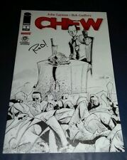 Image comic chew 1 Larry's comics black white sketch variant signed Rob Guillory