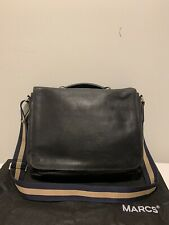 MARCS Black Leather Messenger Briefcase style Satchel Bag in Good Condition