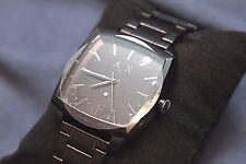 Armani Exchange Men's Diamond AX2361 Black Stainless-Steel Quartz Fashion Watch