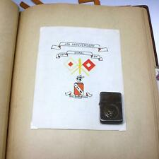 WWII US Army 56th Signal Battalion Personal Scrapbook Grouping w/ Zippo Lighter