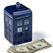 NEW Dr Doctor Who Tardis Ceramic Money Box Bank