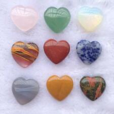 Crystal Love Worry Heart Stone Carved Puff Palm Pocket Healing Balancing UK